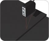 橡胶板的高度差测量